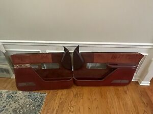 88 94 Chevy Gmc Silverado Sierra Door Panels Left And Right Panel Red Nice Oem