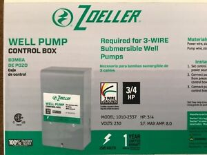Well Pump Control Box New Zoeller 230v 3 Wire Ground 3 4 Hp Same Day Ship