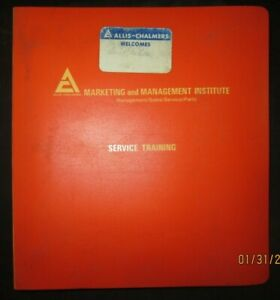 Allis Chalmers Gleaner Combines Service Training Manual Factory Original 1976