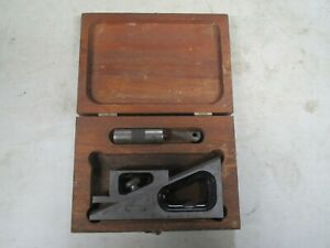 Starrett No 599 Planer And Shaper Gage Inspection Tool W Org Wood Box Vintage