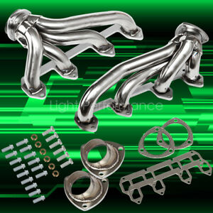 Fits Ford 330 360 390 428 Big Block Fe Shorty Headers Exhaust Manifold Stainless