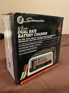 Schumacher 6 2 Amp Dual Rate Battery Charger Model Se 82 6