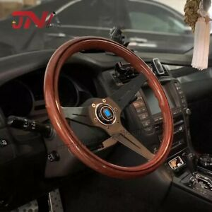 High Quality Jdm Copy Wood Steering Wheel With Black Spoke Classic Nardi Torino