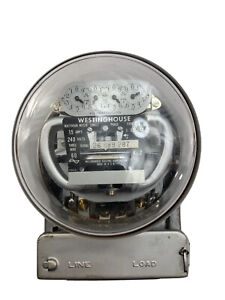 Westinghouse Vintage Electric Meter 15 Amps 240 Volts 1 Phase as Is