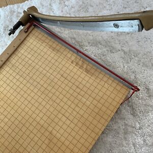 Vintage Mint Ingento No 1132 Maple Wood Cast Iron Paper Cutter Trimmer Office