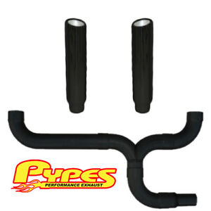 Pypes Ford 6 0 Powerstroke Super Duty Diesel 7 Black Dual Stacks Exhaust Kit