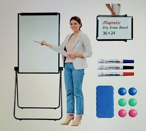 Wonderview Stand White Board Double Sided Magnetic Dry Erase Board Portable Whi