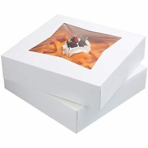 12 Pack 10 Inch Pie Cake Boxes Auto Pop Up Window Box cookie Bakery Box 10