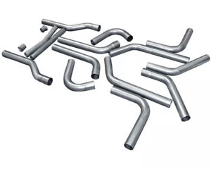 Flowmaster 15937 Universal 3 16 Piece Mandrel Bent Dual Exhaust Kit Pipes Only
