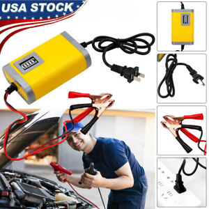 12v 2a Auto Car Battery Charger Tender Trickle Maintainer Boat Motorcycle Lead