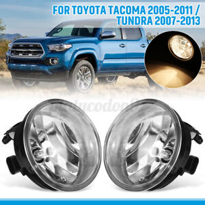 Pair Front Spot Fog Light Lamps For Toyota Tacoma 05 2011 Tundra 07 13 Clear Us