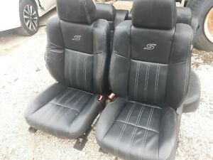 14 Chrysler 300 S Black Leather Front Rear Seats