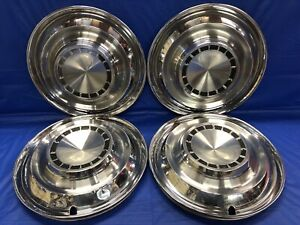 Vintage Set Of 4 1963 Chrysler 14 Hubcaps Newport Mopar