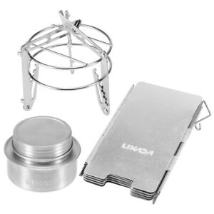 Outdoor Camping Alcohol Stove Aluminum Alloy Picnic Hiking Cooking Burner Grill