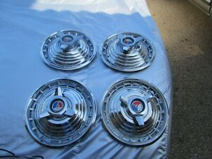 1963 Ford Galaxie Nos Deluxe 500 Hubcaps 14 4 Hubcaps