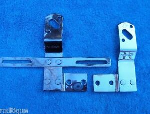 1947 1953 Stainless Steel Chevy Gmc Truck Tail Light Brackets Show Polished