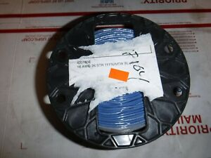 500 Ft Spool Blue 16 Awg Stranded Copper Tffn Mtw Building Fixture Wire New