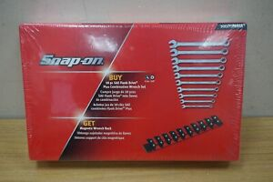 Snap On 10 pc 12point Sae Flank Drive Standard Combo Wrench Set Soex710wrak