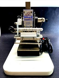 The Howard Personalizer Machine Model 150 Hot Foil Stamping Print Machine Works