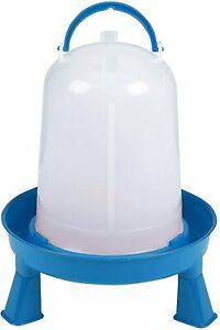 Double tuf Poultry Waterer With Legs For Chickens Birds 3 Quart