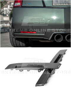 For 09 15 Cadillac Cts V Coupe Gm Style Carbon Fiber Rear Bumper Insert Cover