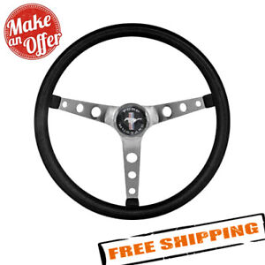 Grant 968 Classic Nostalgia Mustang Style Black Cushioned Foam Steering Wheel