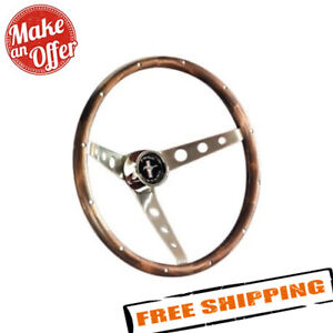 Grant 966 3 Spoke Classic Nostalgia Mustang Style Walnut Hardwood Steering Wheel