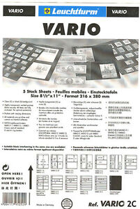 25 New Lighthouse Vario 2c Stock Pages clear Sheets Free Shipping