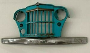 Willys Overland Jeepster Jeep Truck Wagon Grille W Bumper Badge Toledo Ohio