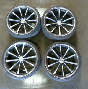 Maserati Quattroporte Aftermarket Vossen Wheel Set 22 10 Spoke Used