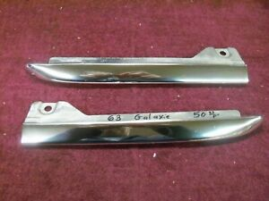 1963 Ford Galaxie Lower Grille Moulding Extensions