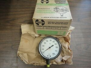 Helicoid 410 l 0 To 1000 Pressure Gauge Size 4 1 2 New Old Stock