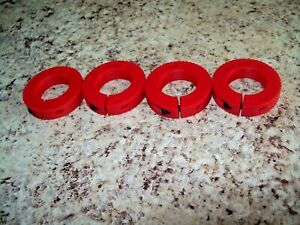 Reloading Die Lock Rings set of 4 compatible with Lee RCBS Hornady RED $10.00