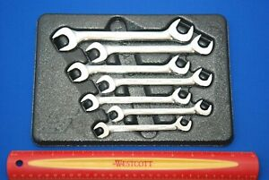 New 2019 Snap On 7 Pc Metric Flank Drive Plus Four Way Angle Head Wrench Set