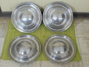 Vintage Lyon Accessory Hubcaps 15 Set Of 4 Wheel Covers 1950 S 1960 S Hot Rod