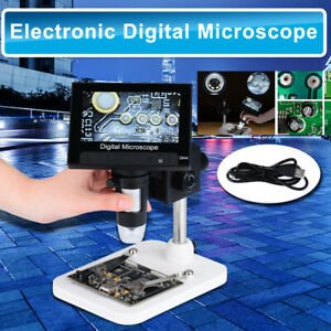 4 3 1000x Lcd Monitor Electronic Digital Video Microscope 8 White Led Magnifier
