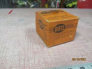 New Old Stock Dietz Motor Lights No 32 Marker Light Amber Lens 6v Untested
