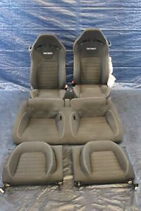 2015 Ford Mustang Gt Coyote V8 5 0l Oem Recaro Front Rear Seats Damage 1285