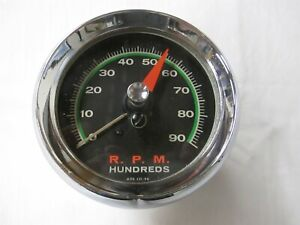 Vintage Sun Super Tach Sst 90 9000 Rpm Green Line W Chrome Cup Used Some Wear