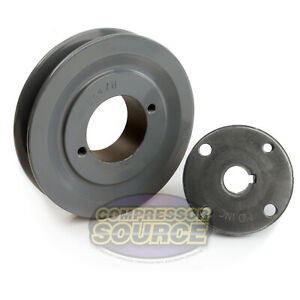 Bk47h Cast Iron 4 5 Single Groove Belt B Section 5l Pulley 5 8 Sheave Bushing