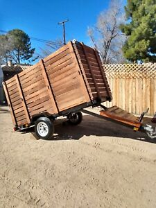 Harbor Freight Custom Utility 4 X 8 Trailer 1720 Super Duty Flatbed Camping Nice