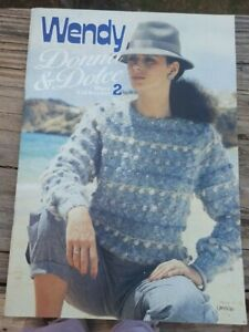 BONANZA SALE RARE KNITTING PATTERN BOOK: DONNA AND DOLCE BY WENDY $1.00