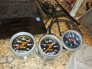 Autometer Procomp Liquid Blower Boost Gauge And Sport Comp Oil Temp Gauge