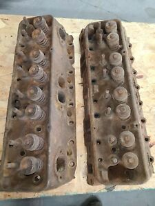 1966 Chevy Small Block L79 3782461 Cylinder Heads Hi Perf Camel Hump