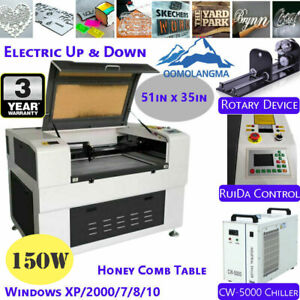 51in X 35in 150w Co2 Laser Cutter Engraving Cutting Machine Fda Honey Comb Table