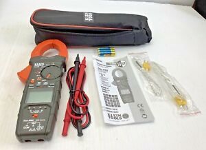 Cl450 Klein Clamp Meter Plus Carry Case Leads Thermocouple Open Box