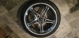 Chrome Rims With Tires 18 Falken Tires Ziex Ze912 Set Of 4