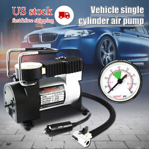 Heavy Duty Portable 12v 100psi Car Tyre Auto Tire Inflator Pump Air Compressor