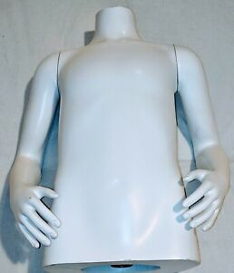 boy Torso Form Mannequin Display Bust W detachable Arms Adjustable Height