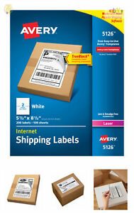 Avery Trueblock Shipping Labels 5 1 2 X 8 1 2 200 Labels 5126